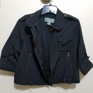 EUC Ann Taylor Black Cropped Utility Jacket Sz Sm